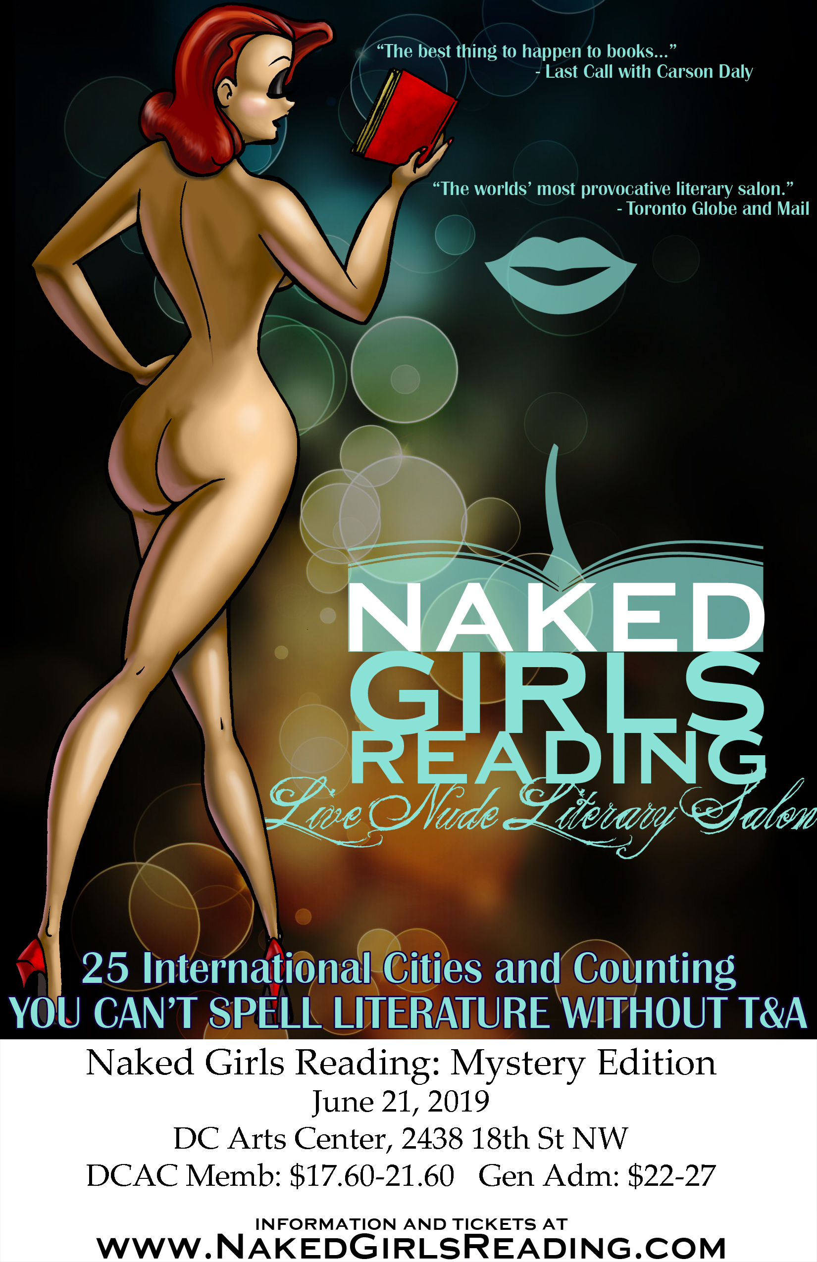 Naked Girls Reading: Mystery Edition <br> June 21, 2019
